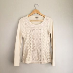 Lucky Brand Thermal Eyelet Top